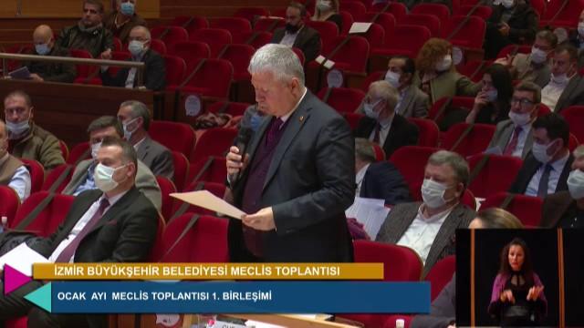 11 Ocak 2021 İzmir Büyükşehir Belediyesi Meclisi